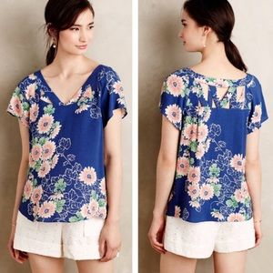 Maeve Anthropologie floral blouse 8